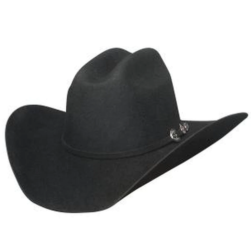 Rattle Your Hocks 4X Black Felt Western Hat By Montecarlo Hats 0781BL