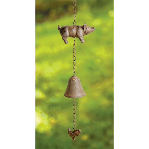 Piggy Cast Iron Wind Bell by Manual Woodworkers IMWCPG