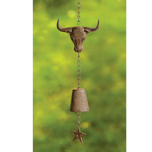 Steer Cast Iron Wind Bell by Manual woodworker IMWCST