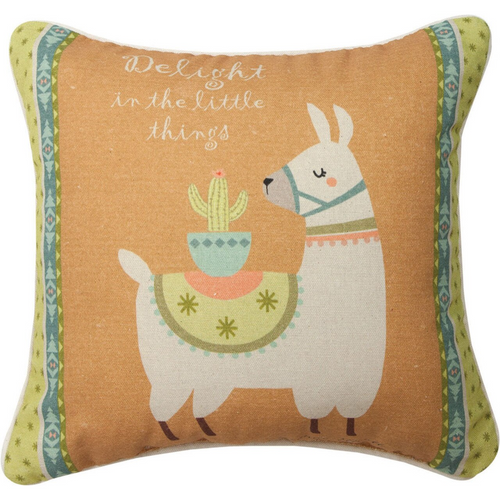 Cactus Flower Delight Pillow by Manual Woodworkers SDPDLT