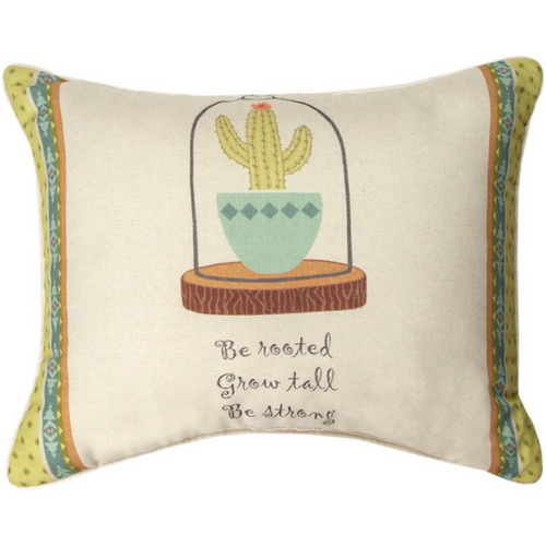 Cactus Flower Be Rooted pillow by Manual Woodworkers SHCFBR