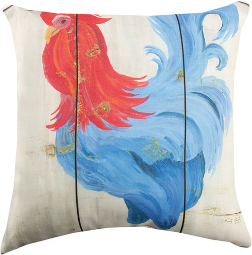 Patriotic Animals Rooster Pillow by Manual Woodworkers SLPARS
