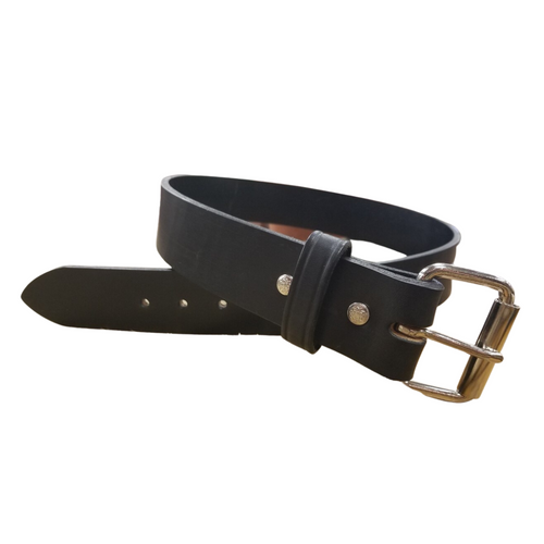 """1 3/4"""" Hand Crafted Extra Wide Leather Belt by H Miller & Sons 725"""