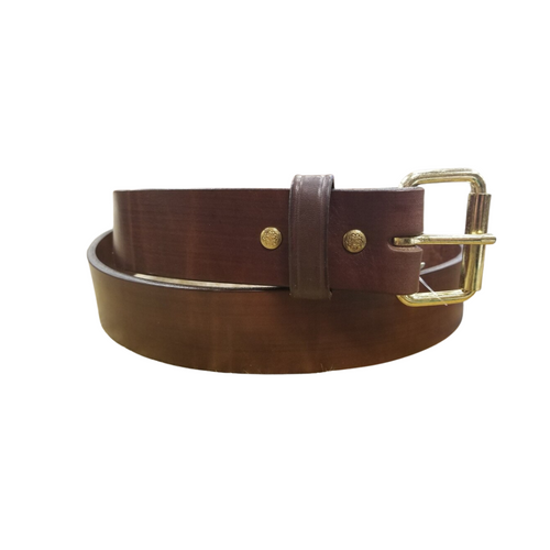 """1 3/4"""" Hand Crafted Extra Wide Leather Belt by H Miller & Sons 730"""