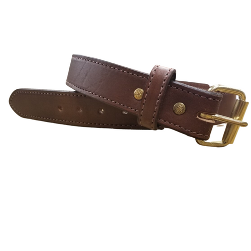 """1 1/2"""" Brown Hand Crafted Extra Thick Bullhide Belt by H. Miller & Sons 760"""
