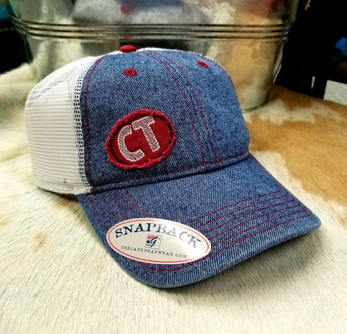 Vintage Denim Cowtown Outfitters Baseball Cap by MV Sport G1918-K00001