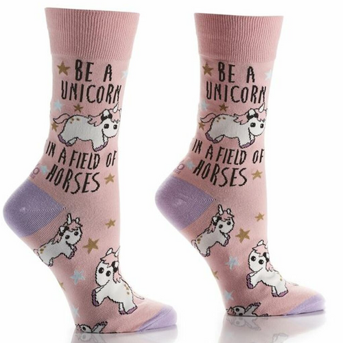 Women's Be a Unicorn Crew Sock by Giftcraft 411772
