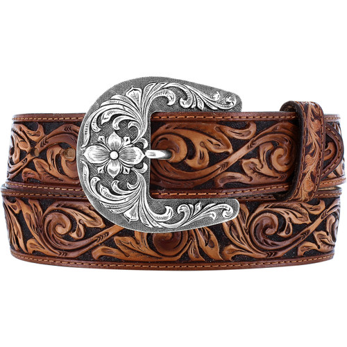 Women's Hand Tooled De Leon Leather Belt by Leegin C42594