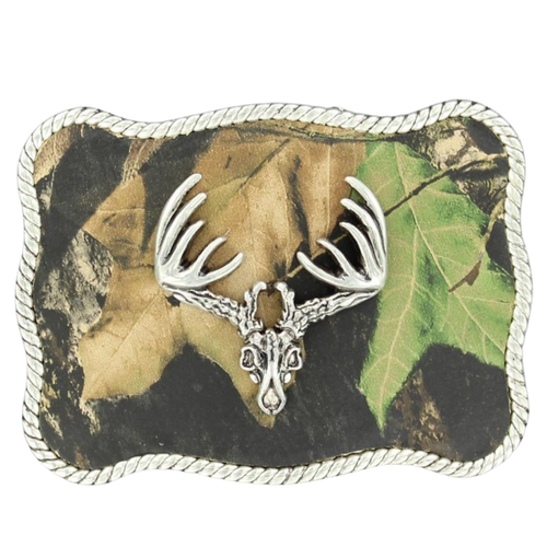 Men's Nocona Mossy Oak Buck Skull Buckle by M&F 37958