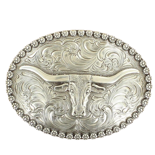 Men's Oval Longhorn Steer Buckle by M&F Western 37981