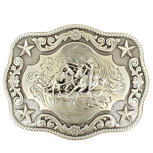 Rectangle Team Roper Rope Edge Buckle by M&F Western 3798611