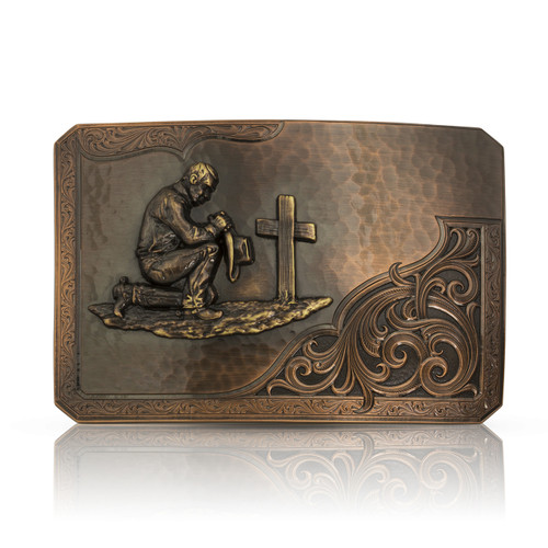Rough Out with Praying Cowboy Buckle by Montana Silversmith 39610CBB-917L