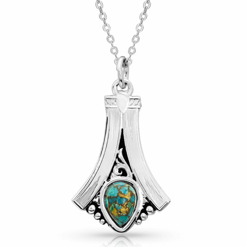Women's Gracefully Yours Turquoise Necklace by Montana Silversmith NC3925TQ