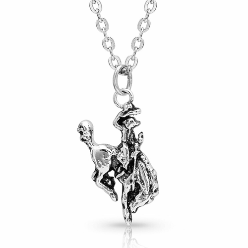Women's Hang On To Your Horse Necklace by Montana Silversmith NC3761