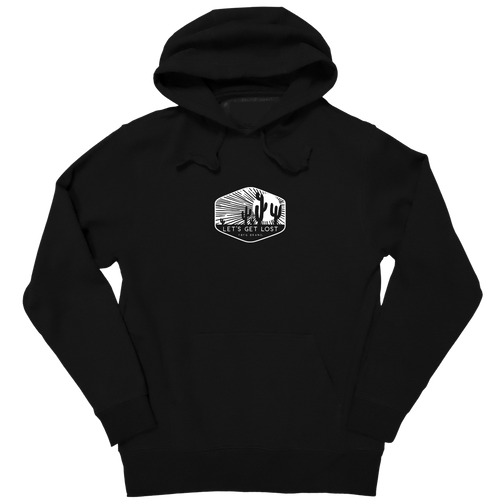 Clearance! Let's Get Lost Hooded Sweatshirt by J America F23027380