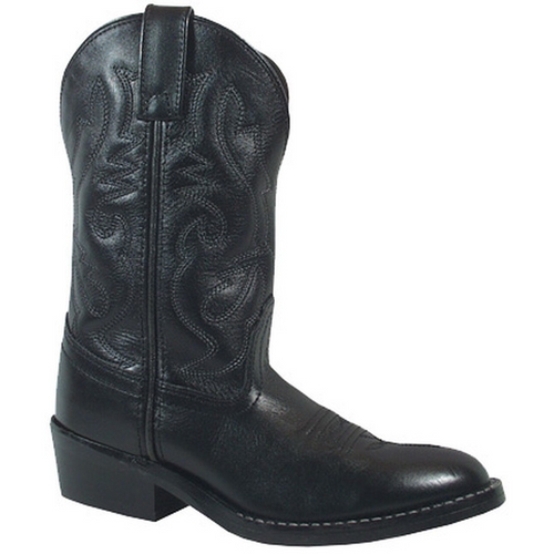 Children's Black Denver Cowboy Boot by Smoky Mountain 3032C