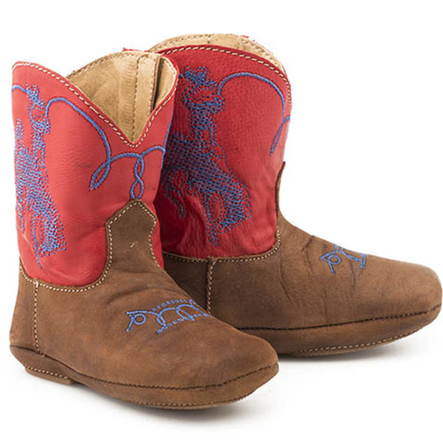 Infants Embroidered Horserider Cowbaby Boot by Roper 9-016-7907-1373