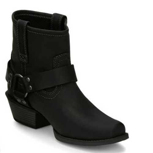 Women's Black Square Toe Harness Boot by Justin L9759