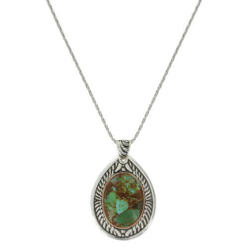 Feathered Flight Turquoise Necklace by Montana Silversmith NC3355RG