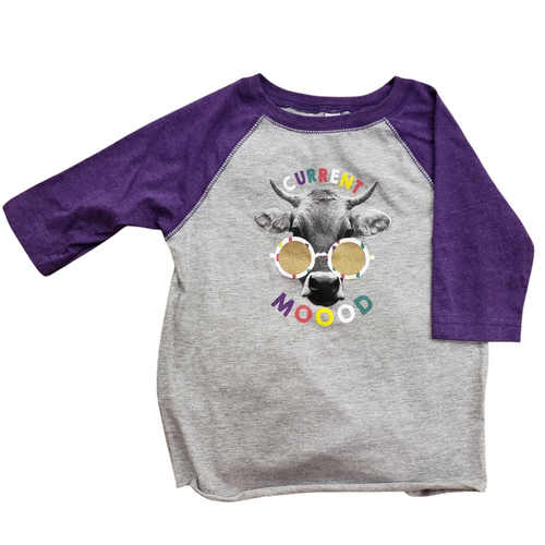 Clearance! Toddler Cur MOOOD Long Sleeve T-Shirt by J America F63308396