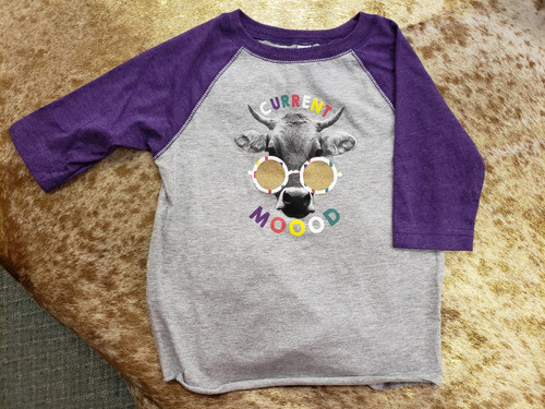 Toddler Cur MOOOD Long Sleeve T-Shirt by J America F63308396