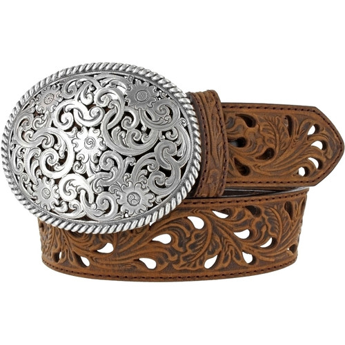 Women's Pierced Filigree Trophy Belt by Leegin C50029