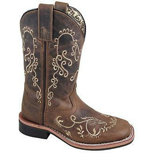 Children's Marilyn Embroidered Square Toe Boot by Smoky Mountain Boots 3845