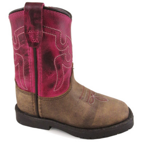 Toddler's Side Zip Square Toe Boot by Smoky Mountain Boots 3920T