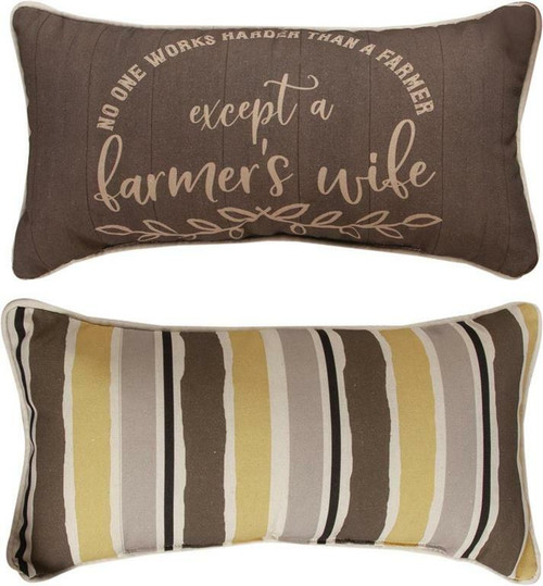 Farm Life No One Works Harder Throw Pillow By Manual Woodworkers SHFNWH
