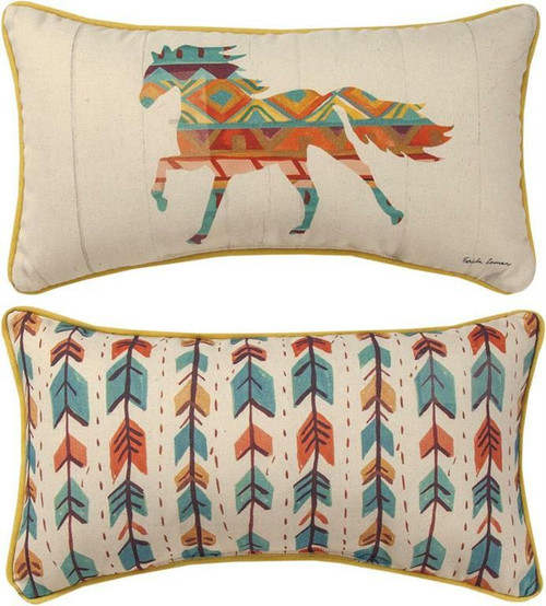 Southwest Vibes Horse Throw Pillow By Manual Woodworkers SHSVHR