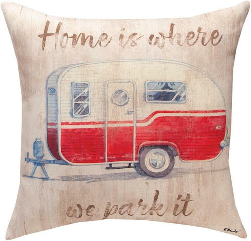 Camping Home Is Where We Park It Pillow By Manual Woodworkers SLCHPI