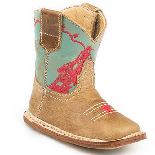 Infant's Barrel Racer Cowbaby Leather Boot by Roper 9-16-7912-1376
