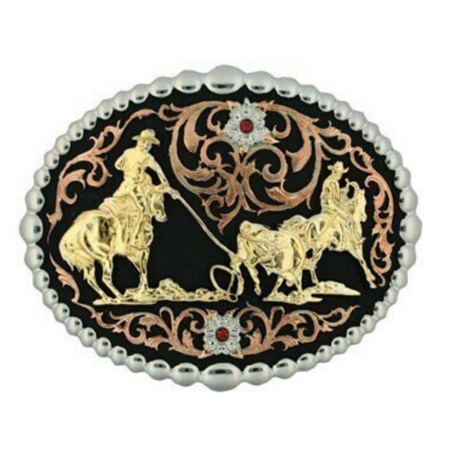 Team Roping Belt Buckle by Montana Silversmith 60969