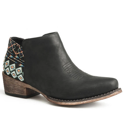 Women's Embroidered Heel Short Boot by Roper 09-021-1567-2507 BL