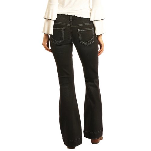Women's Black Lo-Rise Trouser Jean by Panhandle W8-3441