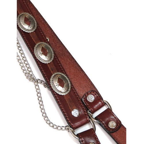 Leather Concho Boot Bracelet by Fashionwest BBR-04BR