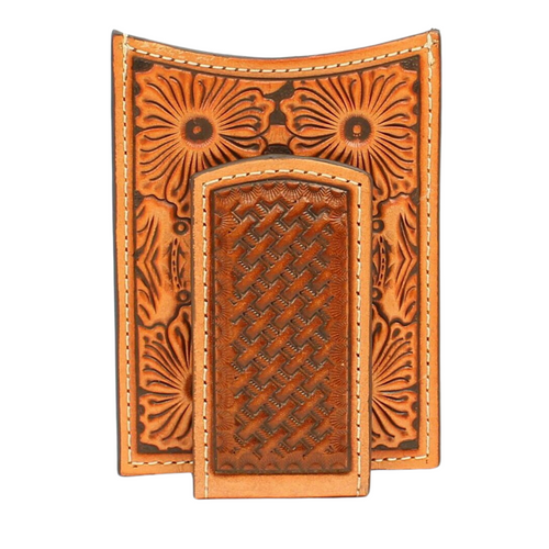 Ariat Basketweave Tooled Money Clip A3536208