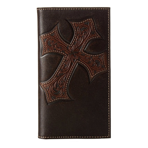 Nocona Tooled Cross Leather Rodeo Wallet N5487044