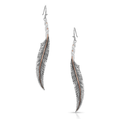 Women's Wind Dancer Wrapped Feather Earrings by Montana Silversmith ER4222RG