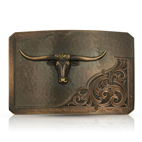 Rough Out with Longhorn Buckle by Montana Silversmith 39610CBB-767M