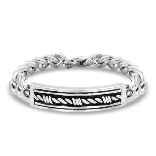 Men's Western Gates Barbed ID Bracelet by Montana Silversmith BC4333