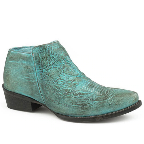 *Last Pair!* Women's Distressed Turquoise Ankle Boot by Roper 9-21-0977-2553