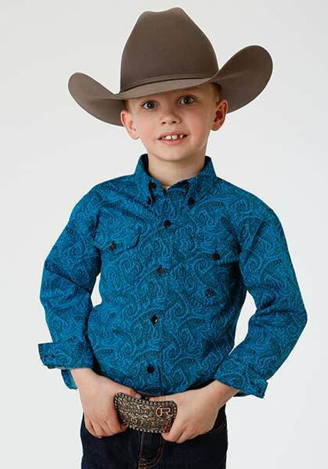 Boy's Amarillo Paisley Long Sleeve Western Shirt by Roper 3-30-0325-0160