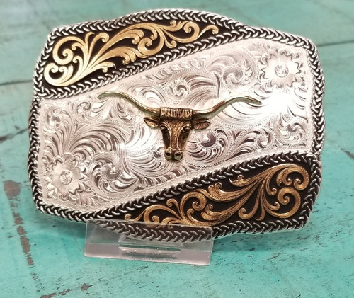 Scallop Rope Edge Buckle by Montana Silversmith 31310-771