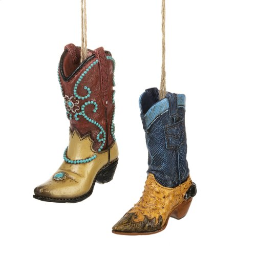 Cowboy Boot Ornament by Ganz USA 165198