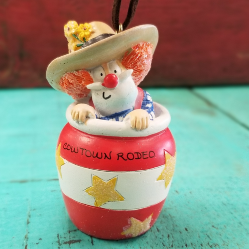 Cowtown Rodeo Clown Ornament by Cape Shore 855-69