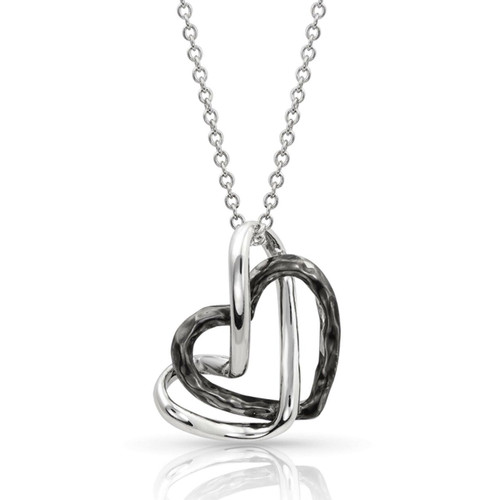 Women's Love Entwined Heart Necklace by Montana Silversmith NC4305