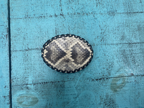 Rattle Snake Hand Laced Buckle by Skin Shop 113R
