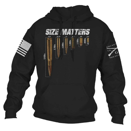 Size Matters Hoodie by Grunt Style GS2857