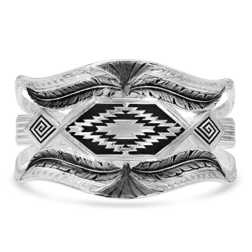 Women's Courage & Strength Feather Cut-Out Cuff Bracelet by Montana Silversmith BC4343